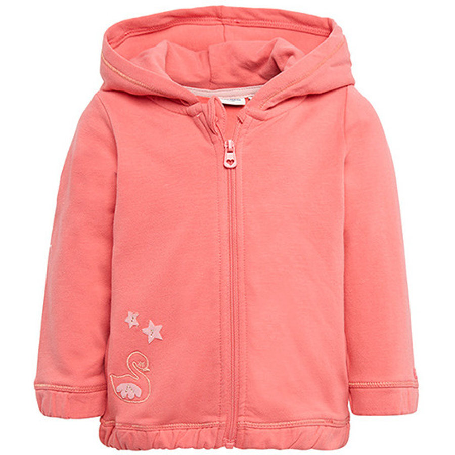 TOM TAILOR Girls Sweatjacke, koralle