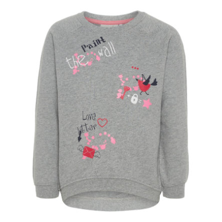 name it Girl s Sweatshirt Venus gris mélangé