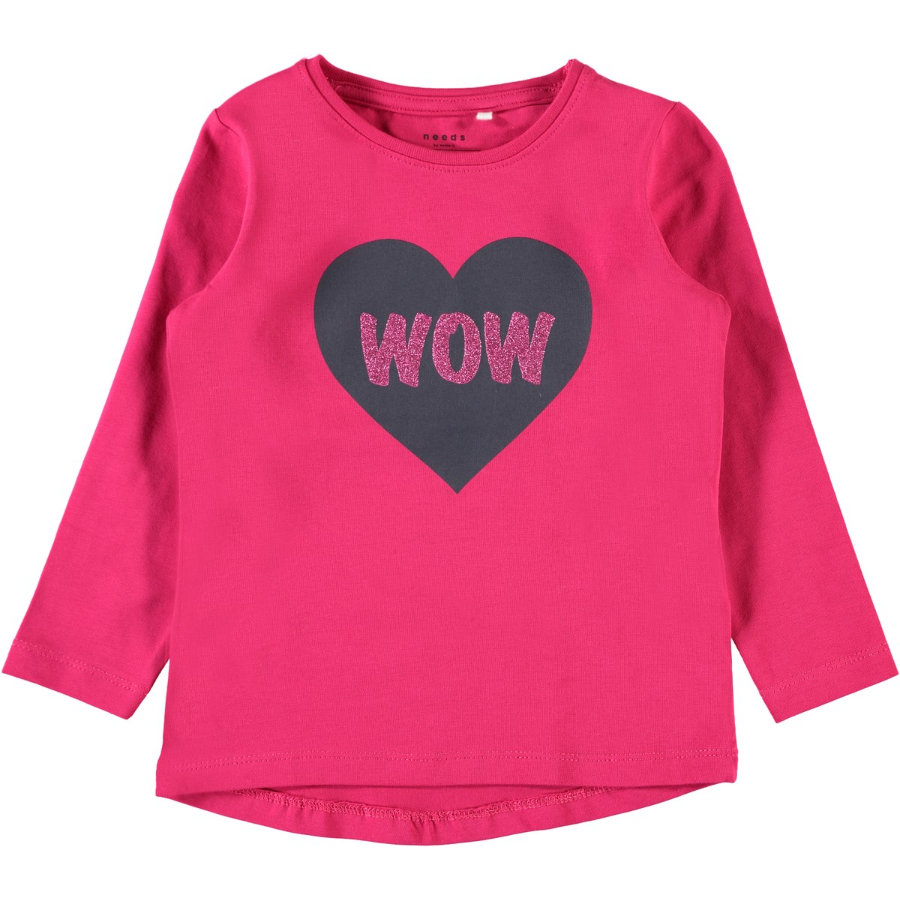 name it Girl s Camicia manica lunga Vixi rosa virtuale rosa