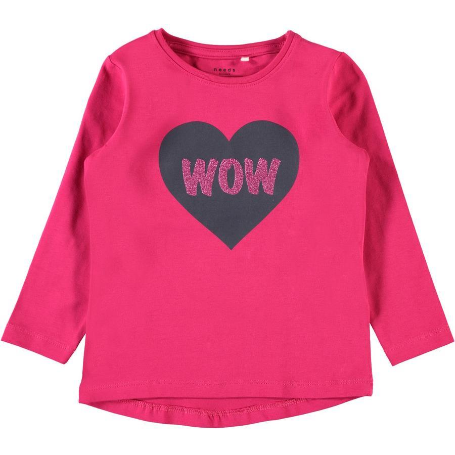 name it Girl s Koszulka z długim rękawem Vixi wirtualny różowy