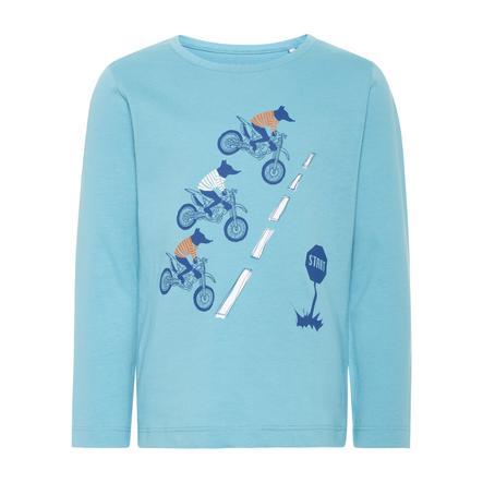 name it Boys Overhemd Victor ridderspoor blauw met lange mouwen