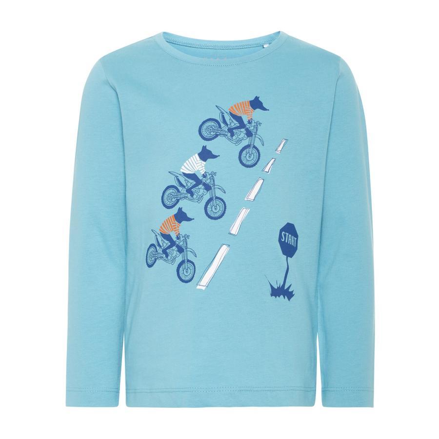 name it Boys Camicia manica lunga Victor delphinium blu