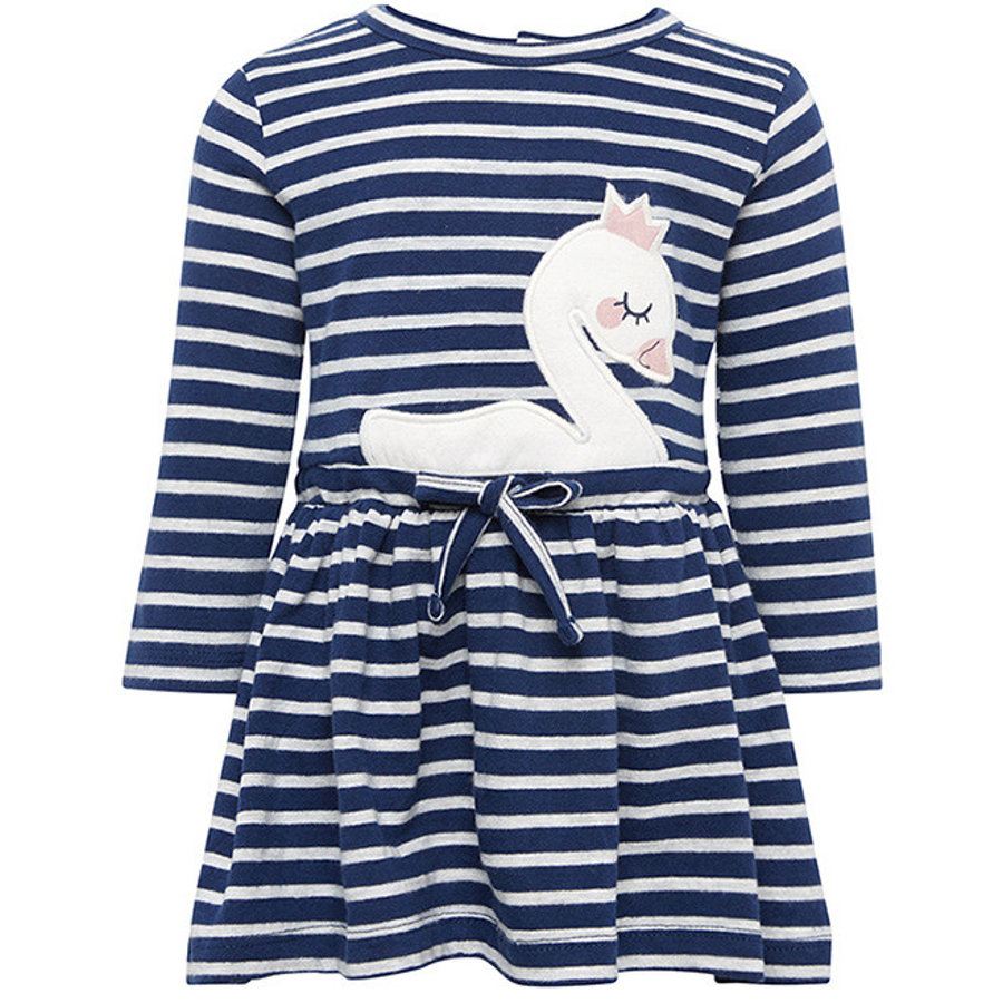 TOM TAILOR Girls Kleid Schwan, blau