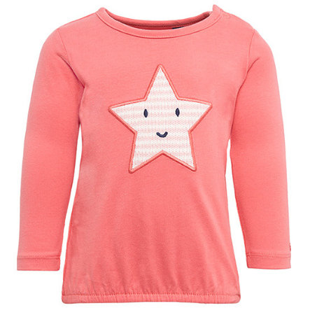 TOM TAILOR Girls Košile s dlouhými rukávy hvězda, korálová