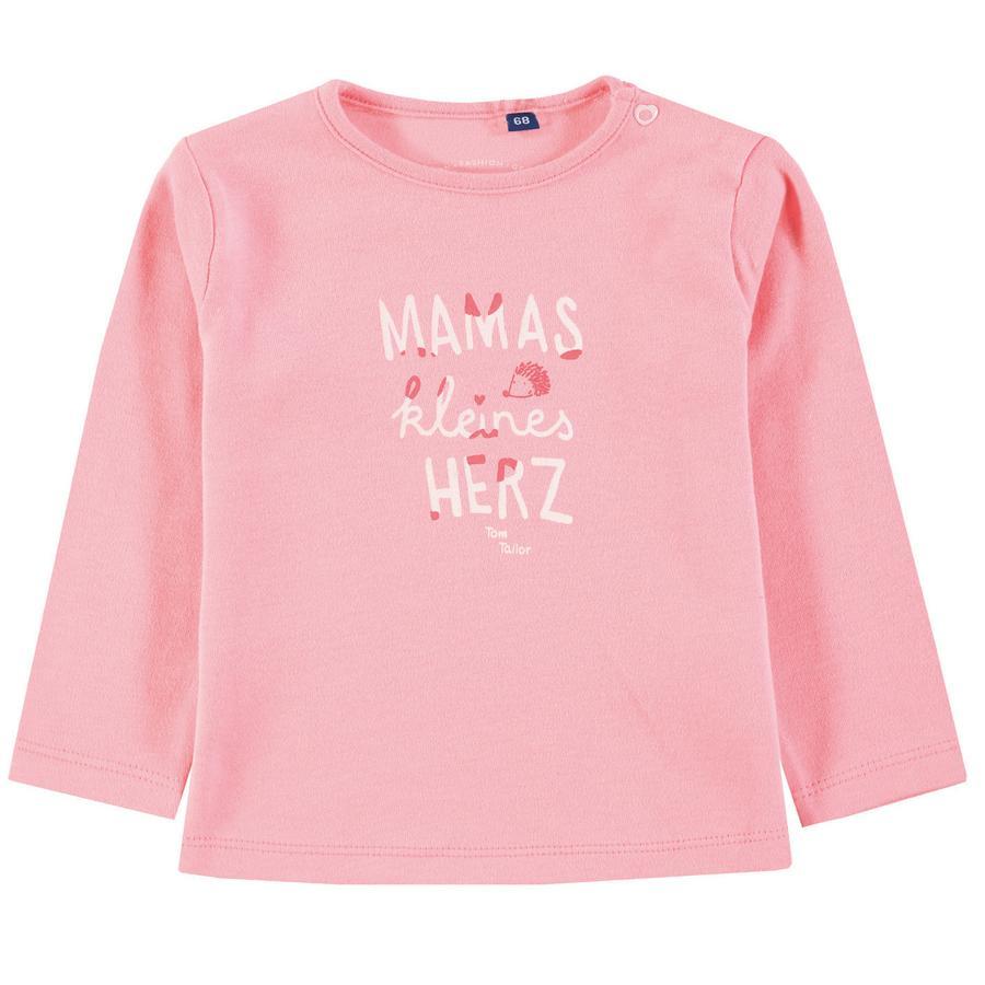 TOM TAILOR Tyttöjen pitkähihainen paita, vaaleanpunainen