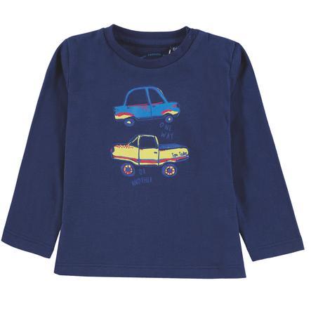 TOM TAILOR Boys koszula z długim rękawem, niebieska