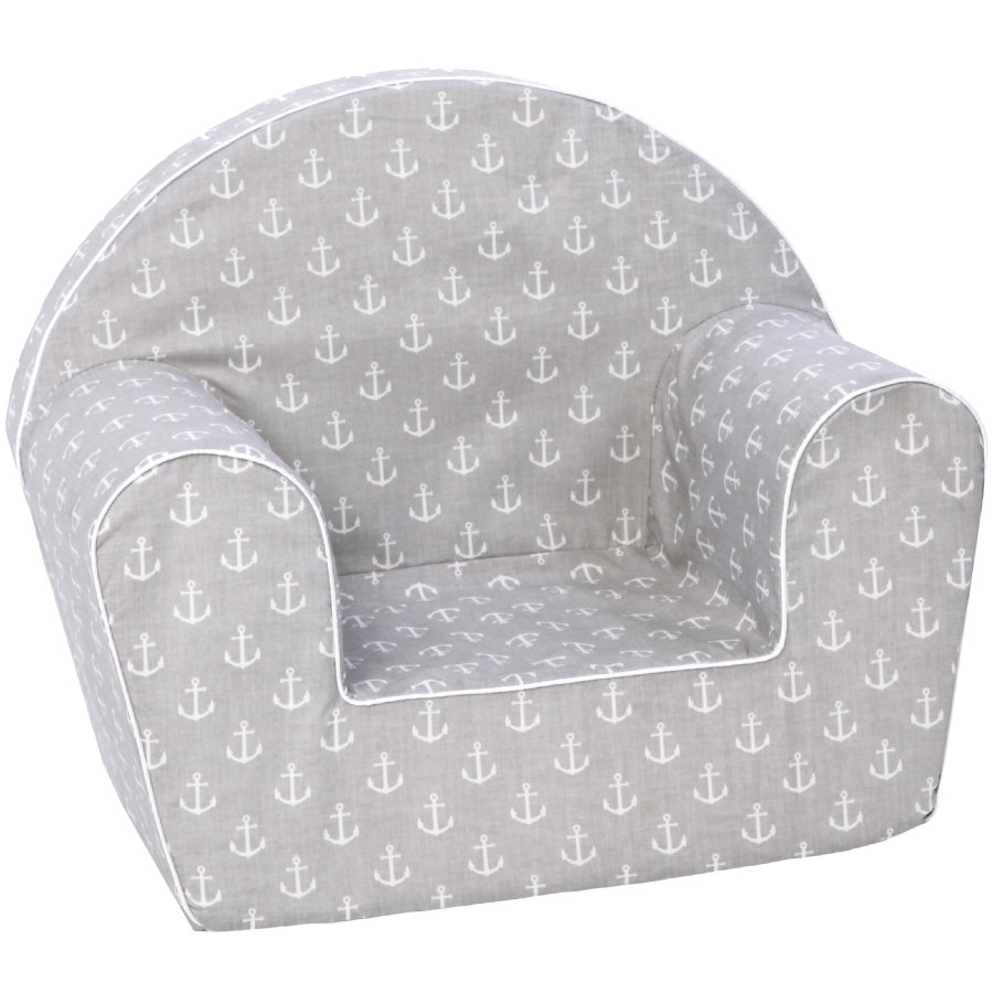 knorr® toys Barnfåtölj - Maritim grey