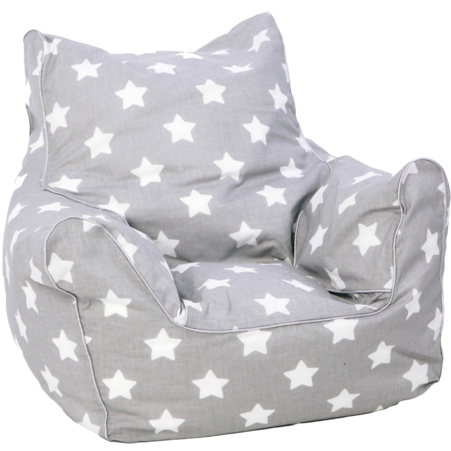 knorr® toys Kinder zitzak - Stars white
