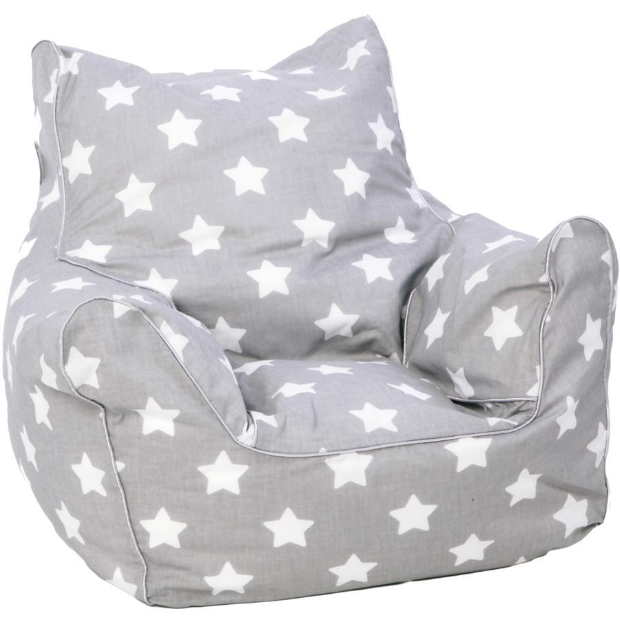 knorr® toys Sillón puff- Estrellas blanco