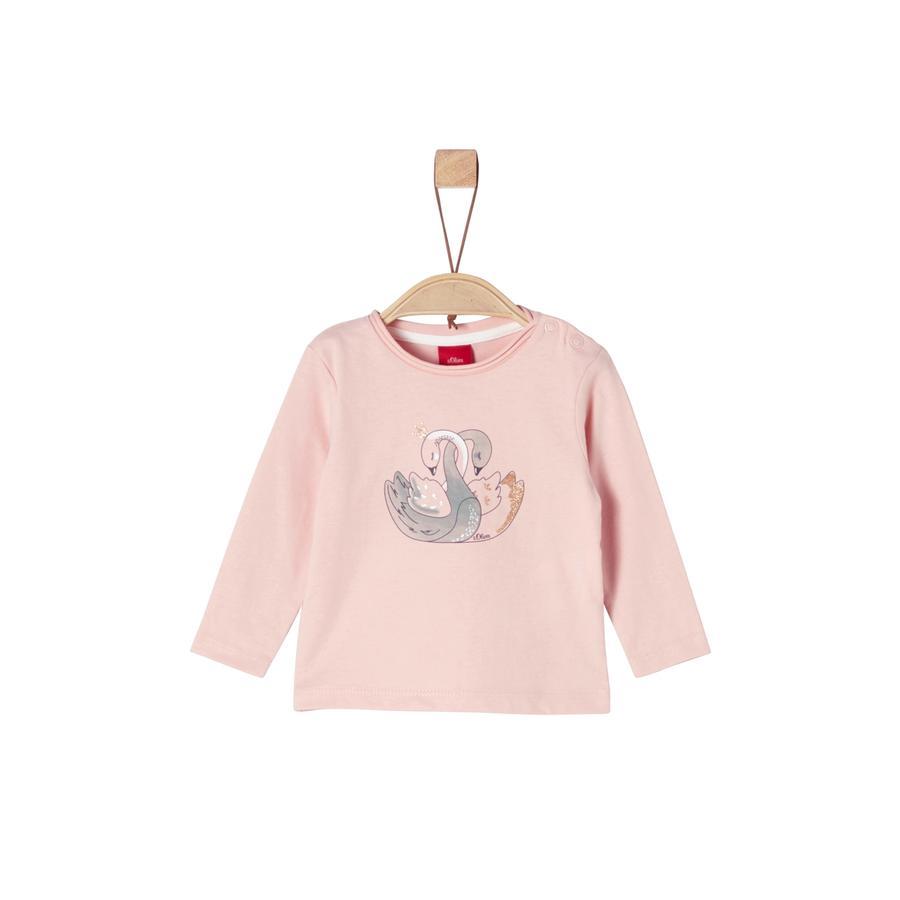 s.Oliver Girls Langarmshirt pink Swans