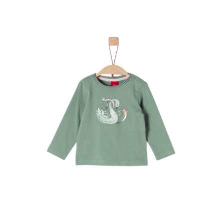 s.Oliver Girls Langarmshirt dark mint