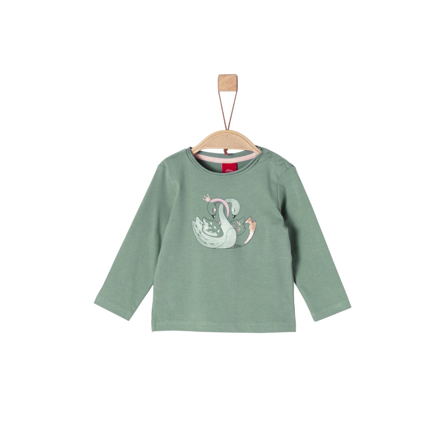 s.Oliver Girls Langarmshirt dark mint swans