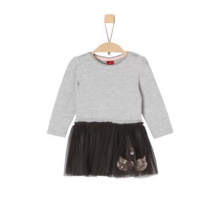 s.Oliver Girls Kleid grey melange black
