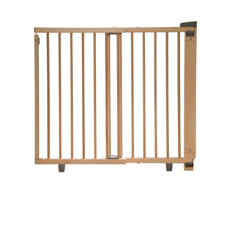 Geuther Barrera de seguridad rotatoria para puerta Plus 2734+  93,5 - 133 cm natural