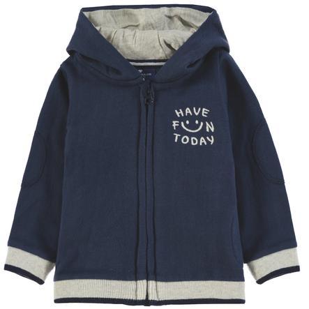 TOM TAILOR Baby Boys Sweatjacke mit Kapuze, blau