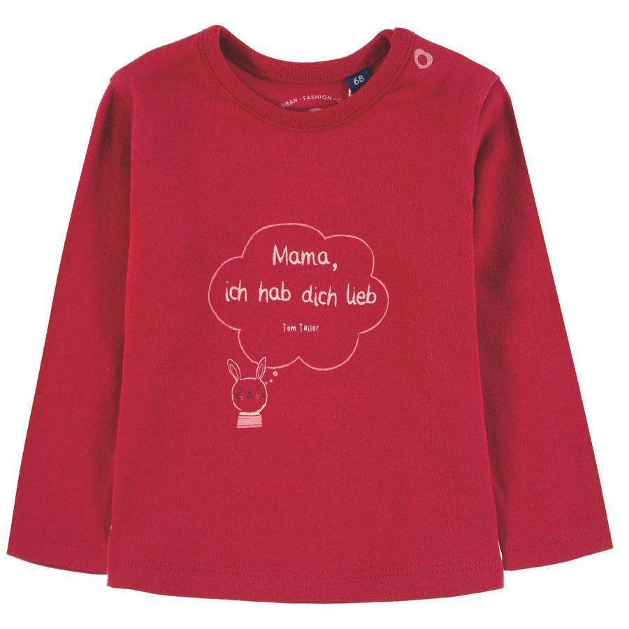 TOM TAILOR Långärmad skjorta för flickor, röd