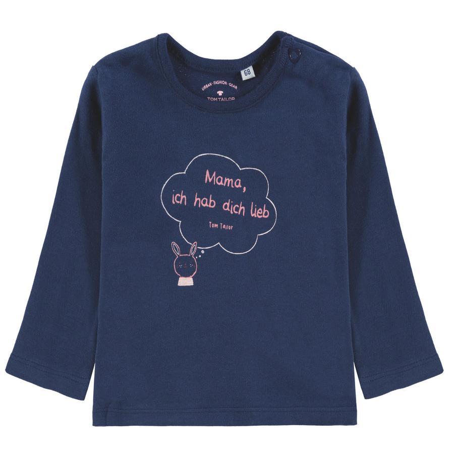 TOM TAILOR Girl s camisa de manga larga, azul