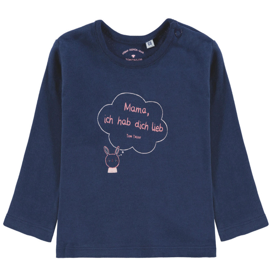 TOM TAILOR Långärmad t-shirt, blå