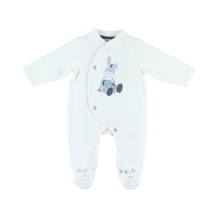 noukie Boys 's Pajamas 1-delig wit