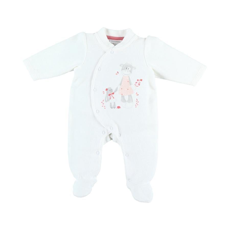 Chlapecké jednodílné pyžamo Noukie's Jersey Paco white