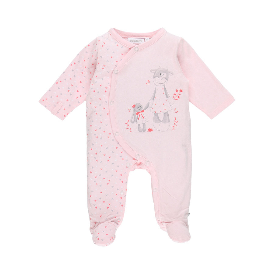 noukie Girl 's Pajamas 1-częściowy Jersey Pink