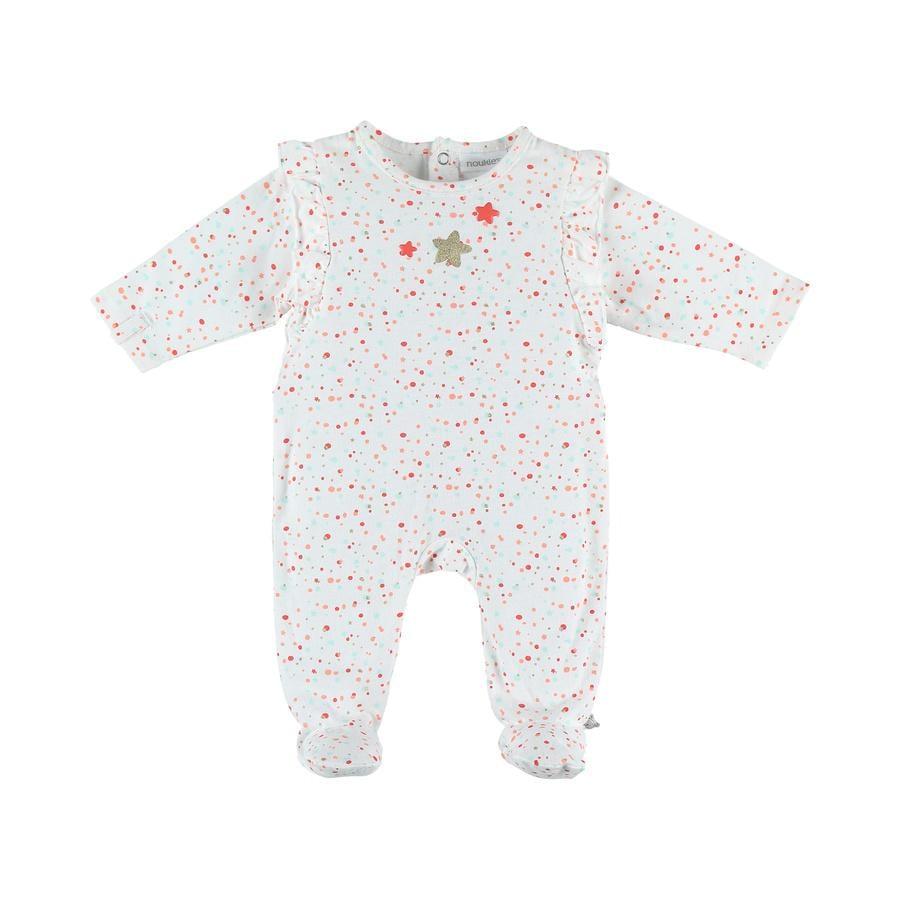 noukie Girl 's Pajamas 1-częściowy blanc