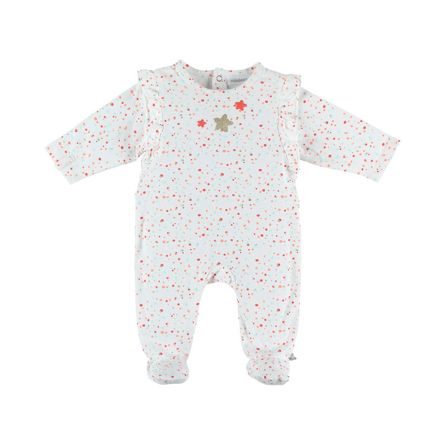 noukie Girl 's Pajamas 1-delig blanco