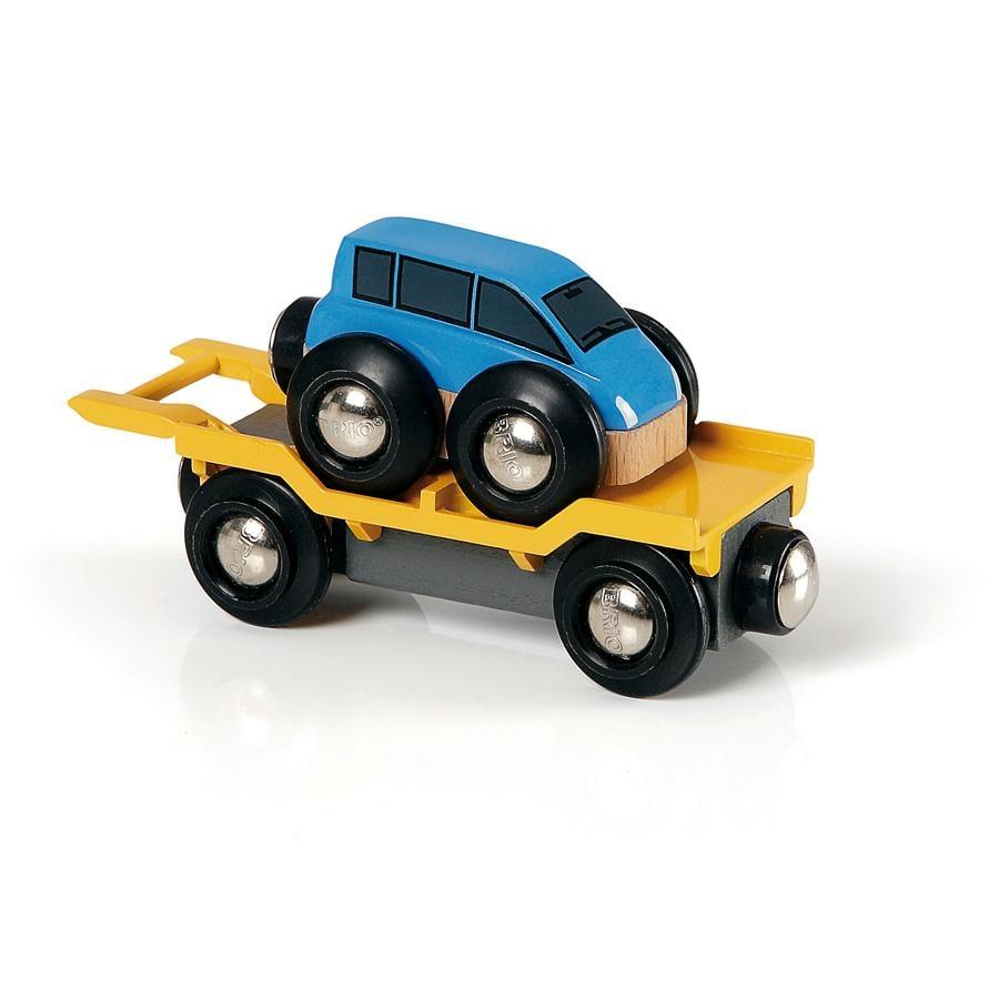 BRIO Vagón para el transporte de vehículos con rampa