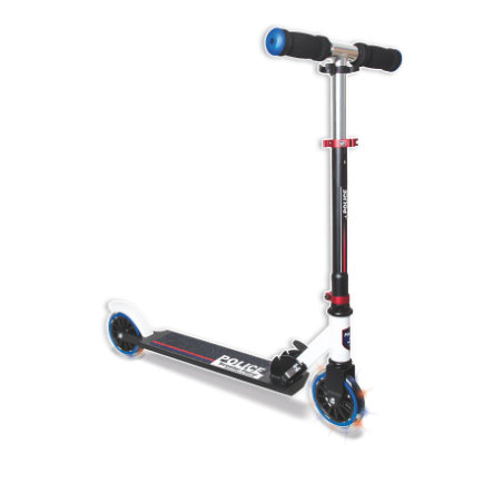 """AUTHENTIC SPORTS Aluminium Scooter """"Scooter-Patrol"""" 125mm mit Leuchtrollen, Police"""