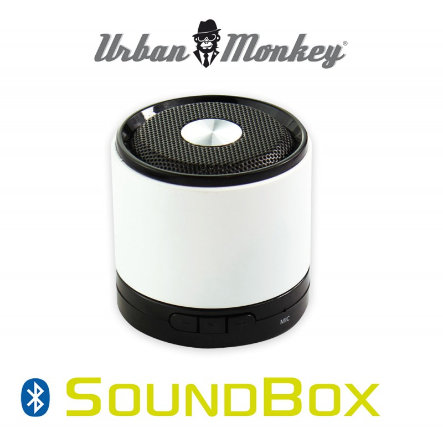 easypix - Urban Monkey - Altoparlante portatile Bluetooth SoundBox, White