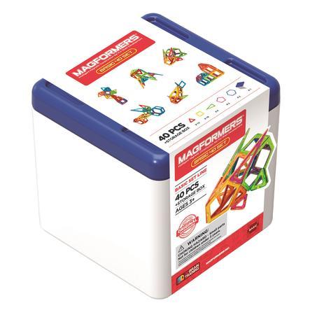 MAGFORMERS® Jeu magnétique Basic 40 pièces, boîte
