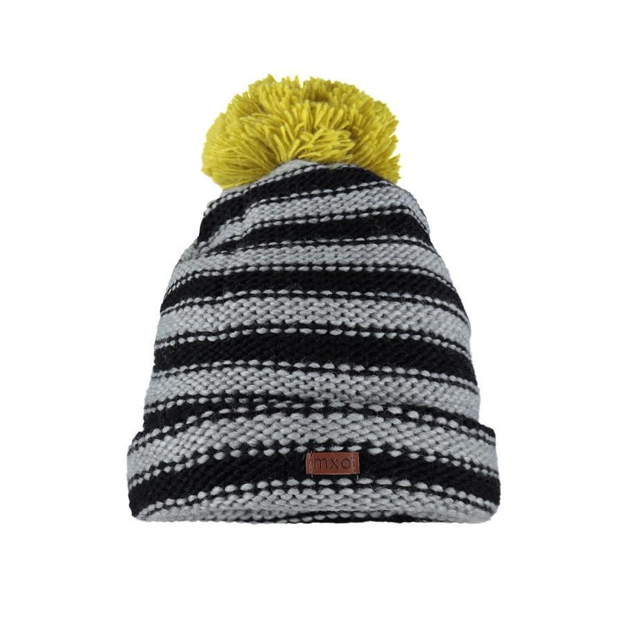 maximo Bonnet tricoté grossier Ringel noir/mélange métallique