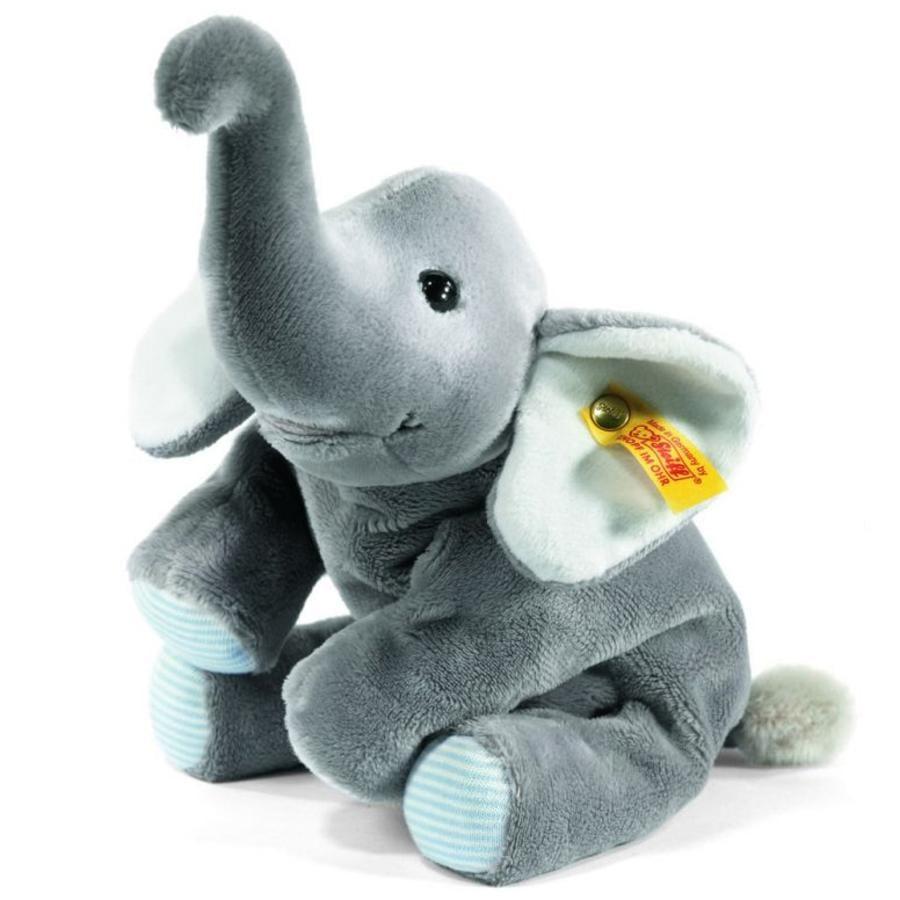 STEIFF Steiff´s kleiner Floppy Trampili Elefant, 16 cm liegend