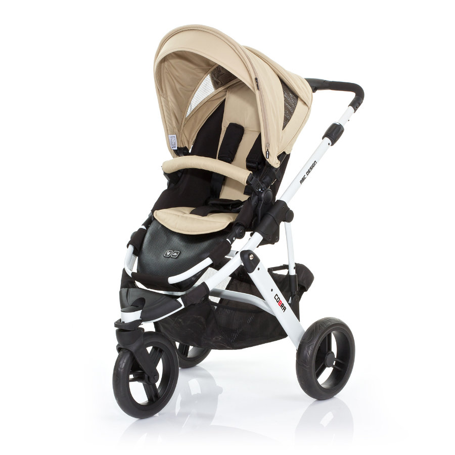 ABC DESIGN Kinderwagen Cobra desert Gestell white / black