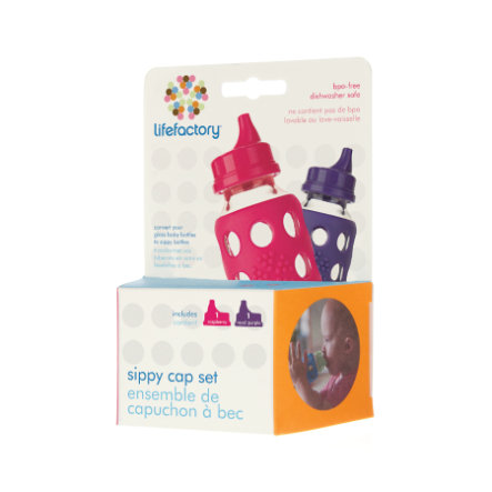LIFEFACTORY Sippy Caps (vanaf 12 maanden) set van 2
