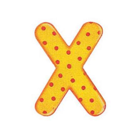SELECTA dřevěné písmenko X