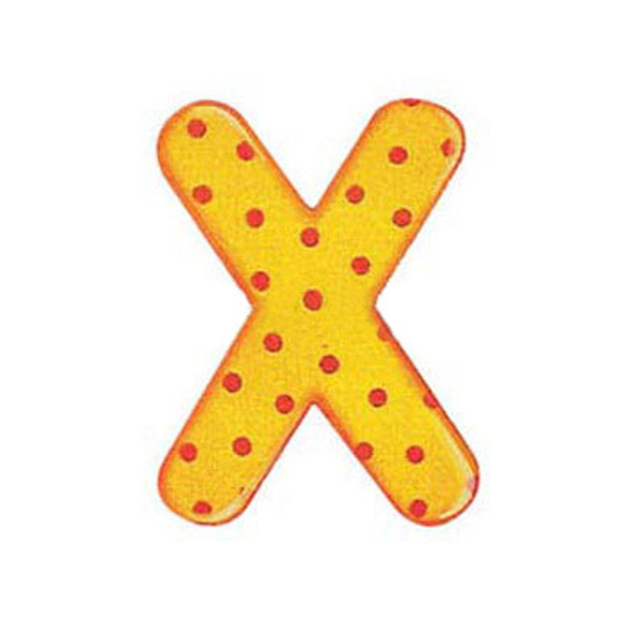 SELECTA Wooden Letter X