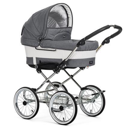 Emmaljunga Kinderwagen Duo De Luxe Chrome Mondial de Luxe Lounge Grey
