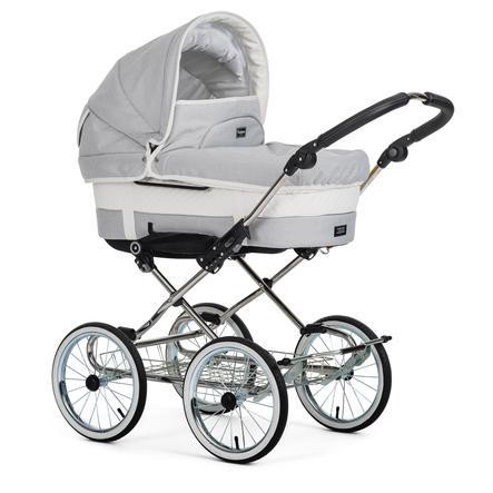 Emmaljunga Kinderwagen Duo De Luxe Chrome Mondial de Luxe Lounge Pure