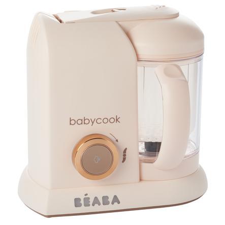 BEABA Robot cuiseur mixeur Babycook® 4 en 1  macaron rosé doré