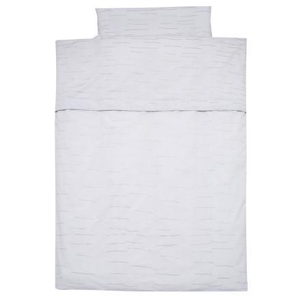 Alvi® Parure de lit enfant rayures grise, 100x135 cm