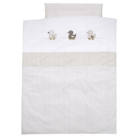 Alvi Parure de lit enfant canard beige, 100x135 cm