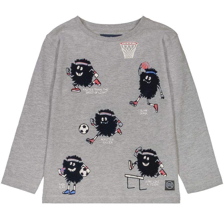 STACCATO Langermet skjorte for gutter grå melange