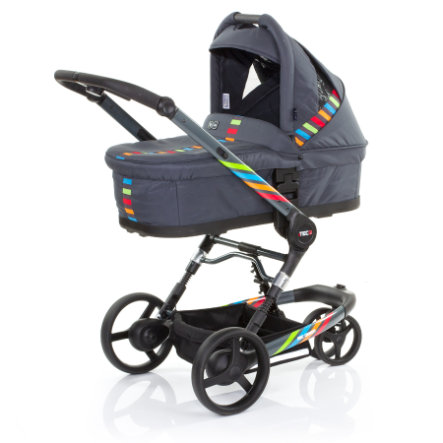 ABC DESIGN Combikinderwagen 3 Tec incl. Reiswieg RAINBOW Collectie 2015