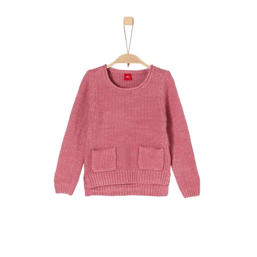 s.Oliver Girl S sweter - różowa dzianina.