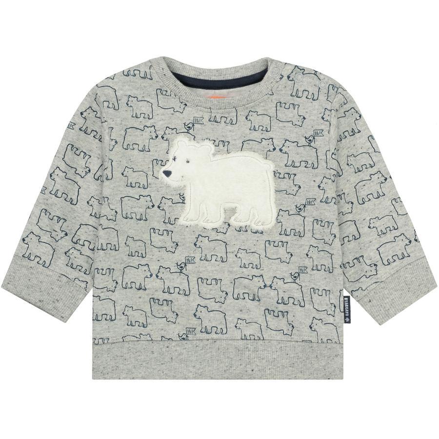 STACCATO Boys Sweatshirt grey melange gemustert
