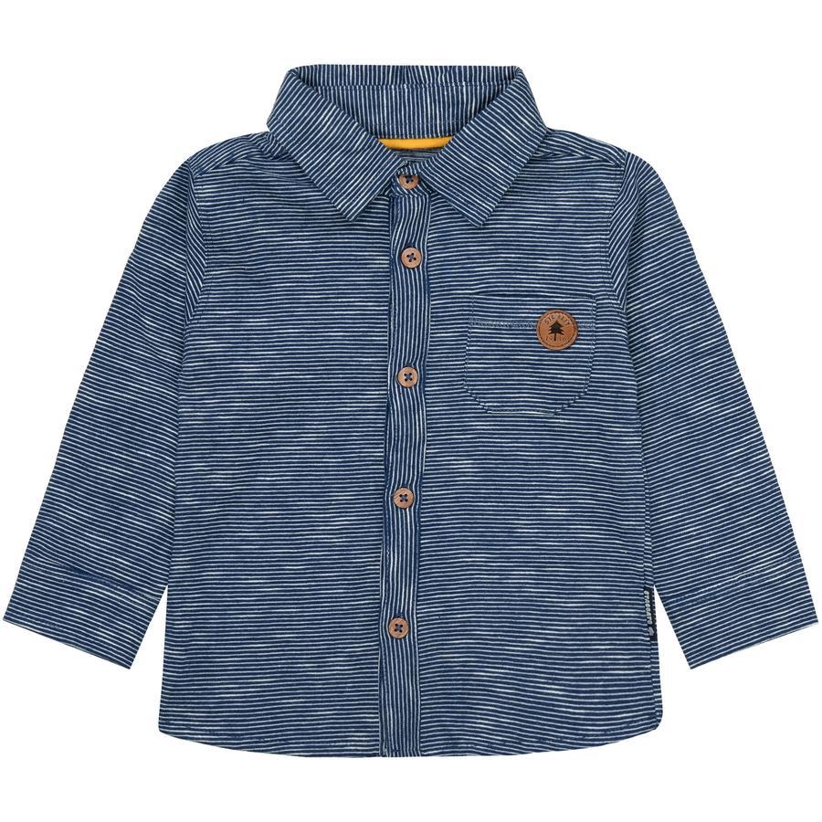 STACCATO Boys Jerseyhemd washed blue gestreift