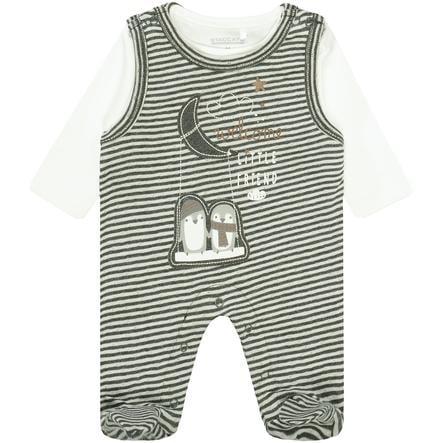 STACCATO Ensemble grenouillère bébé t-shirt rayures noir/blanc