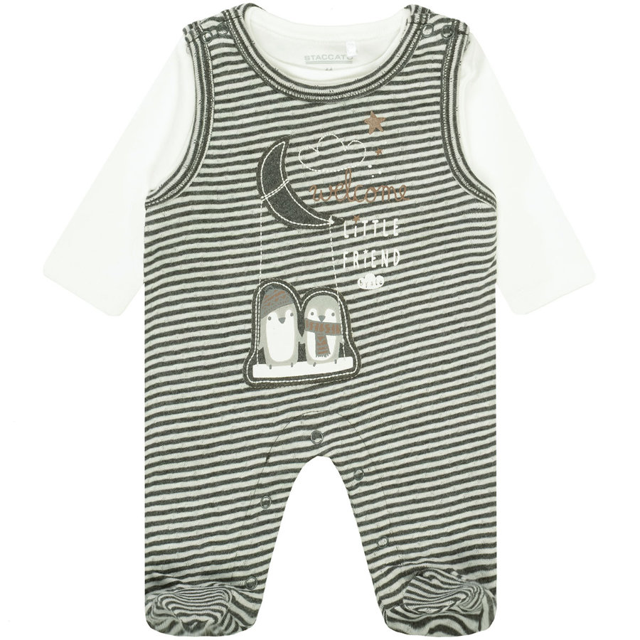 STACCATO NB Strampler-Set mit Shirt offwhite