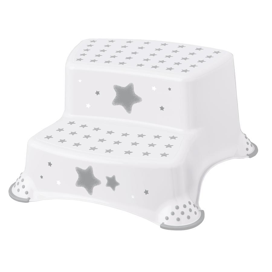 keeeper stolička dvoustupňová s protiskluzovou funkcí hvězdy bílá